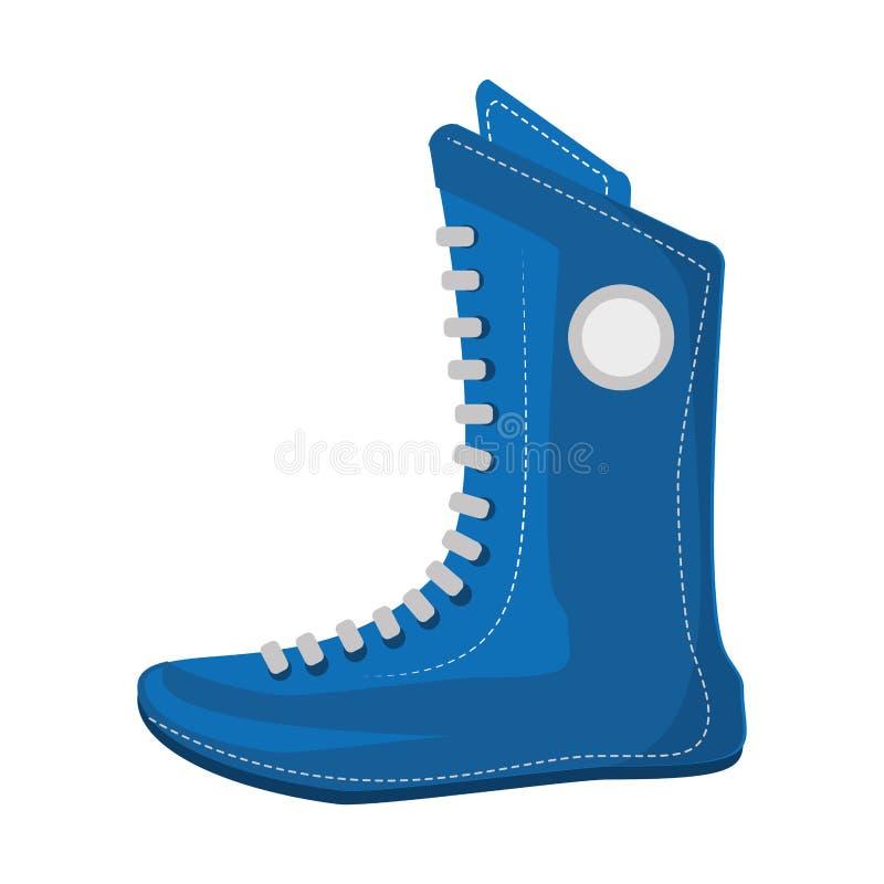 Bokserskich butów wyposażenia odosobniona ikona ilustracji
