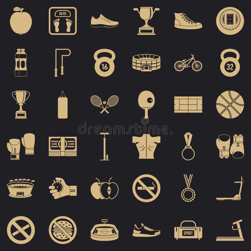Bokserskie ikony ustawiać, prosty styl ilustracji