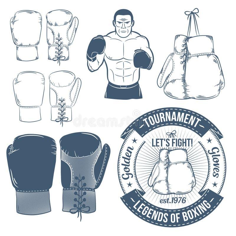 Bokserskie rękawiczki ilustracja wektor