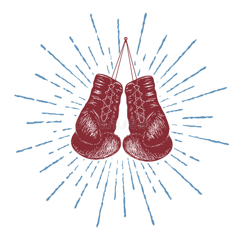 Bokserskie rękawiczki ilustracji