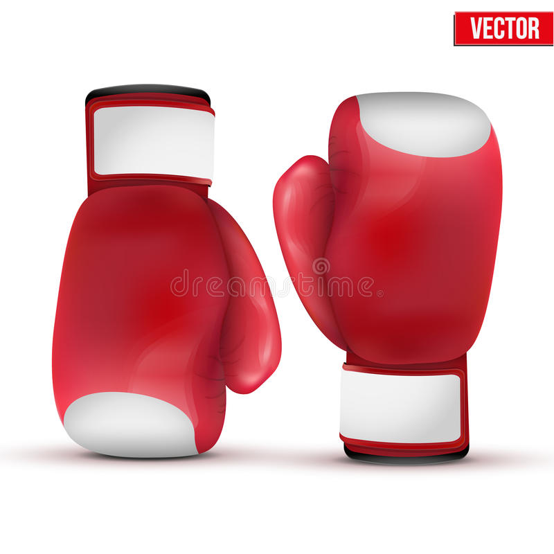 Bokserskie rękawiczki odizolowywać na białym tle ilustracja wektor