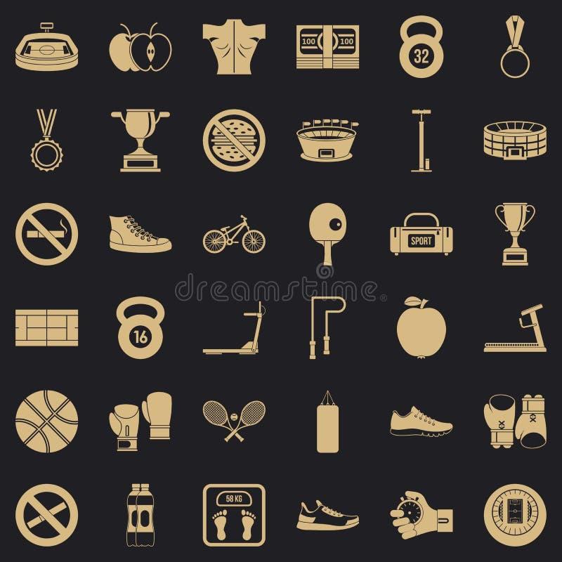 Bokserskie sport ikony ustawiać, prosty styl ilustracja wektor