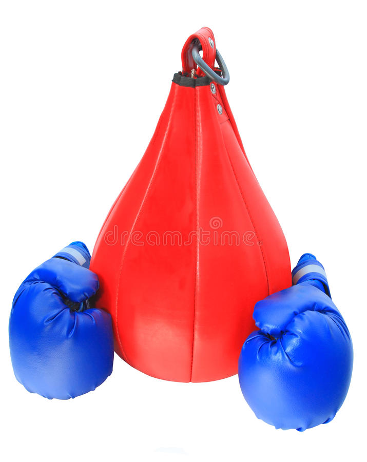 bokserskie toreb rękawiczki obrazy stock
