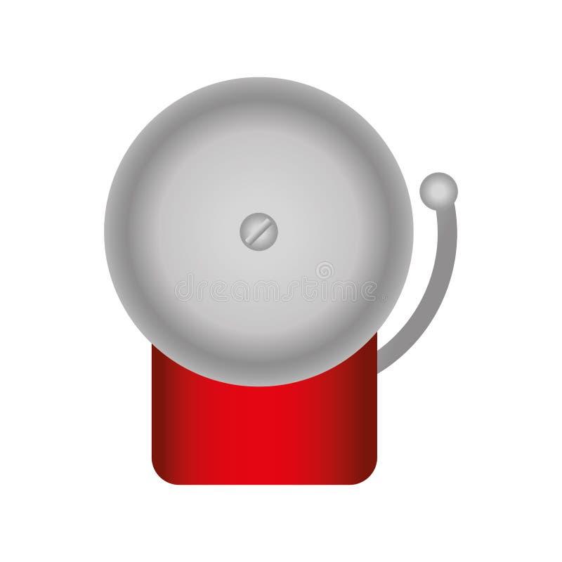 Bokserskiego dzwonu odosobniona ikona ilustracji
