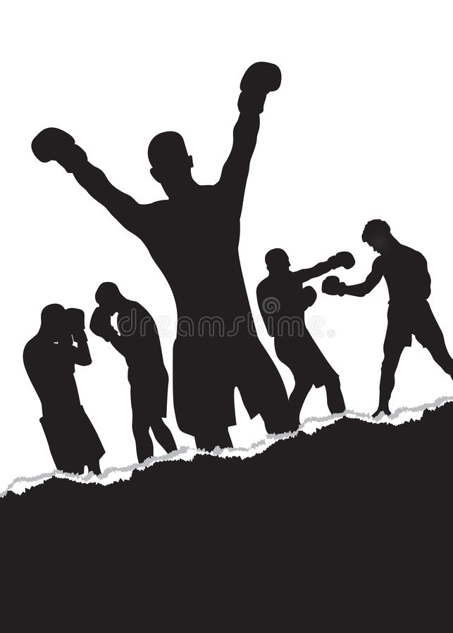 boksery ilustracji