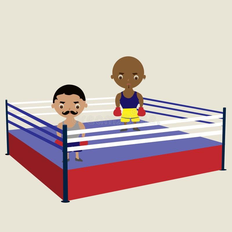 boksery dwa ilustracji