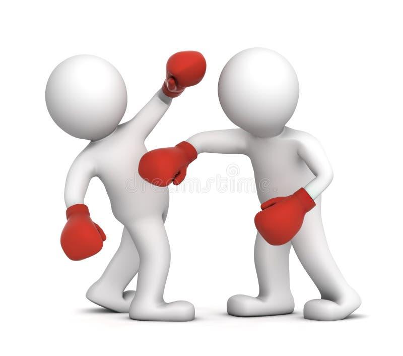 boksery target1851_1_ dopasowanie dwa ilustracja wektor