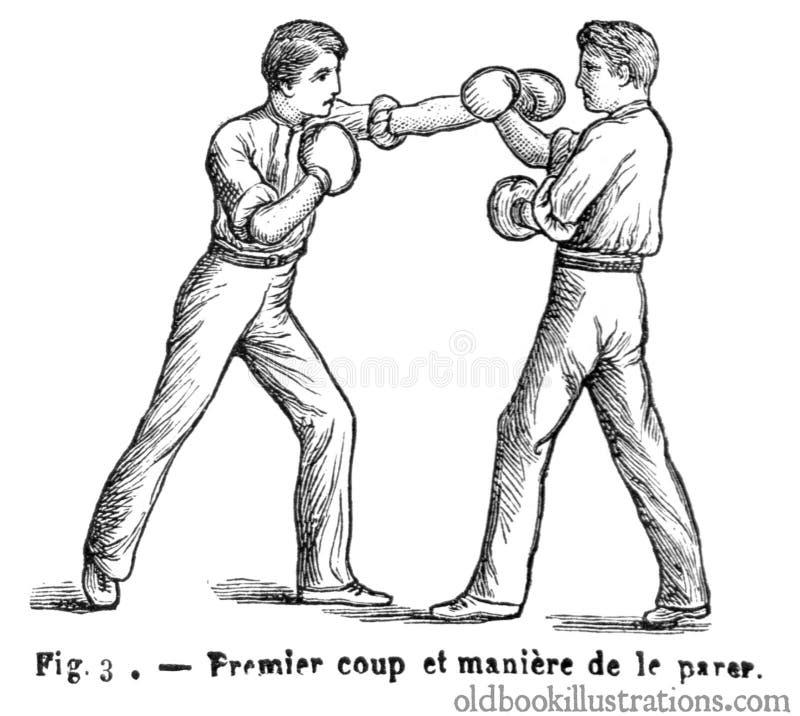 Boksować: Strajk &-x28 i odparowanie; 1&-x29; zdjęcie stock