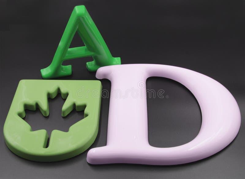 bokstäver för egen 3D royaltyfri bild