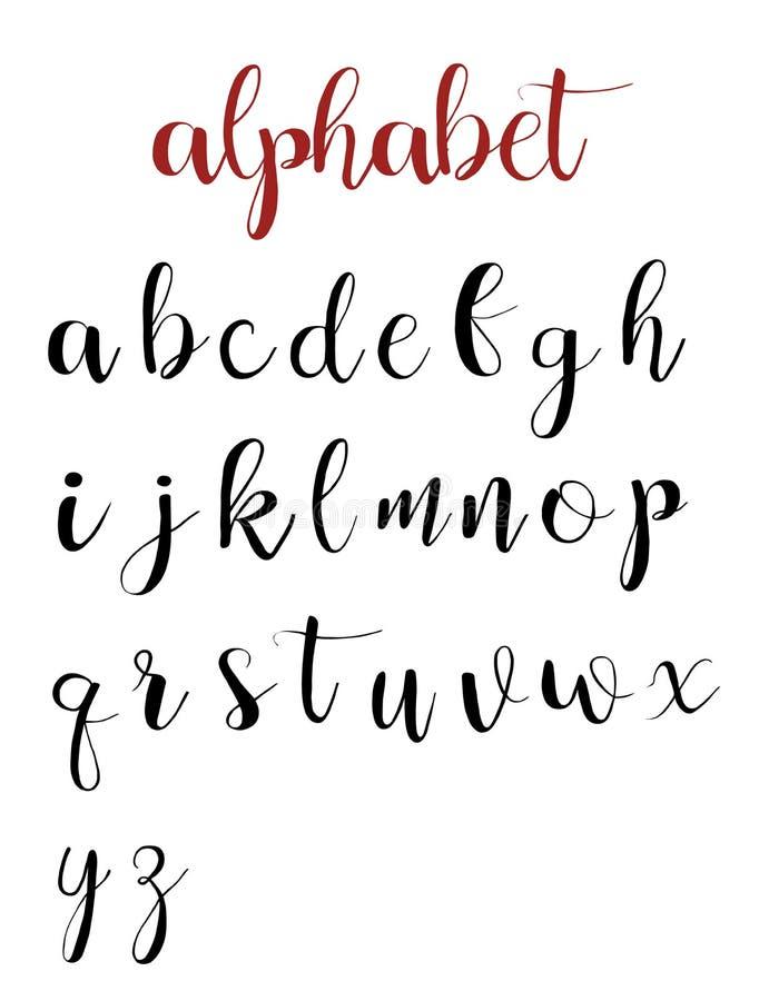 Bokstäver för latinskt alfabet på en vit bakgrund stock illustrationer
