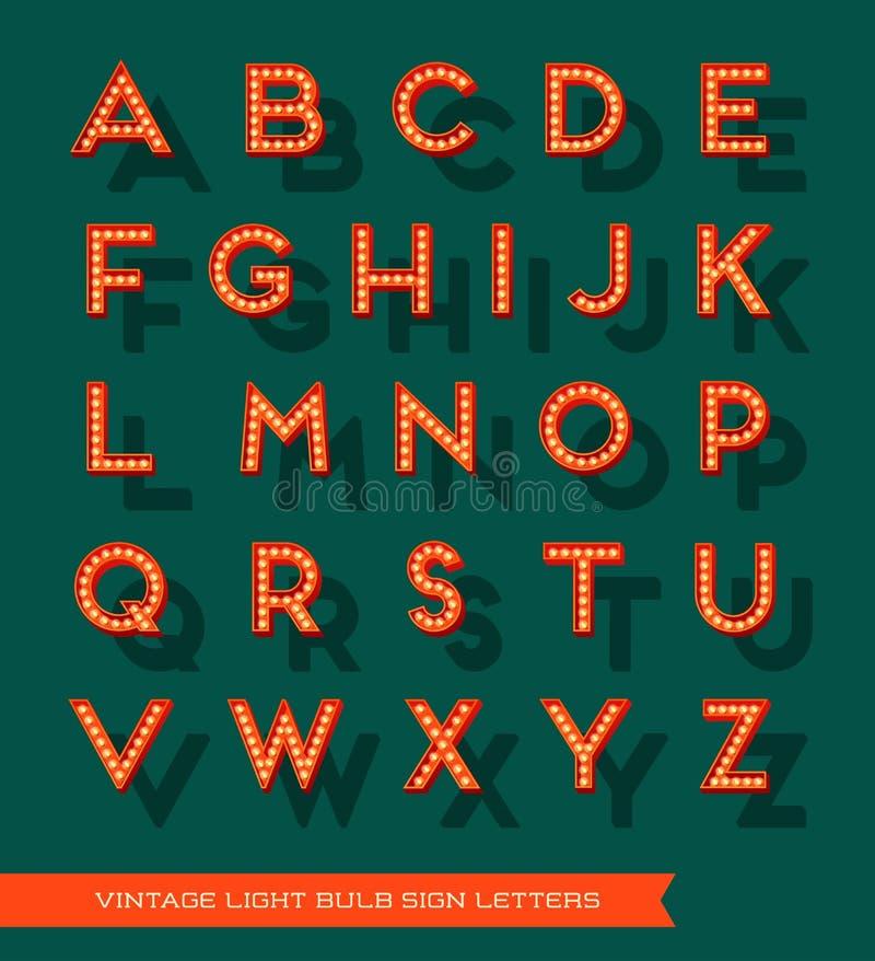 Bokstäver för tecken för stort festtält för ljus kula för vektor vektor illustrationer