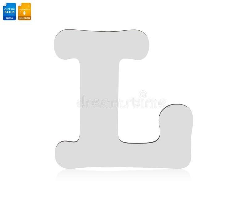 Bokstäver L gjorde från isolerat trämaterial på vit bakgrund Tom tr?stilsort f?r din design r arkivfoto