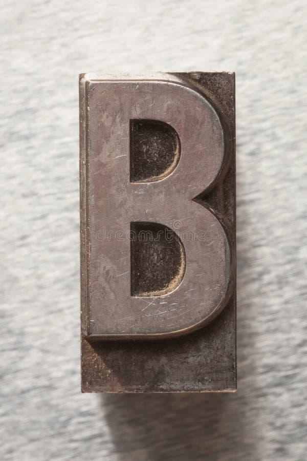 Bokstav B arkivfoton