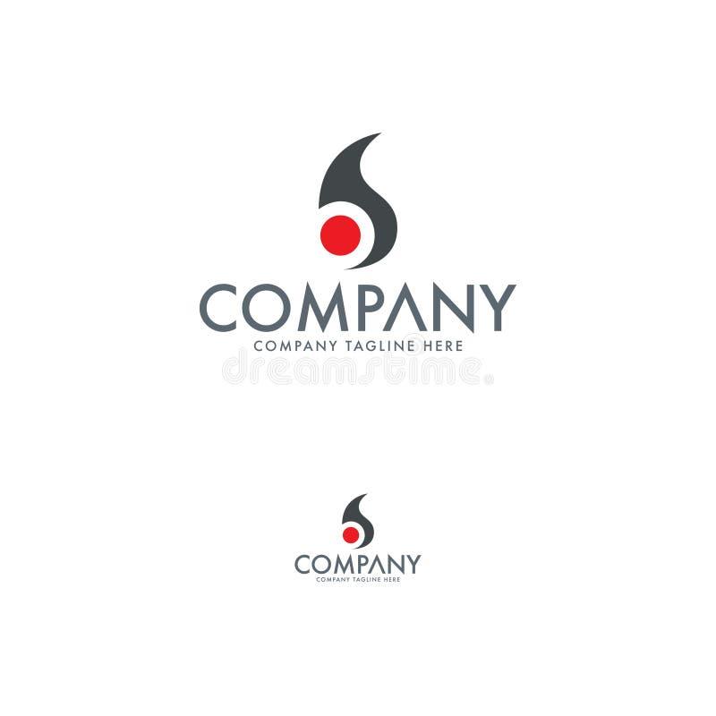 Bokstav B Logo Desing Template stock illustrationer