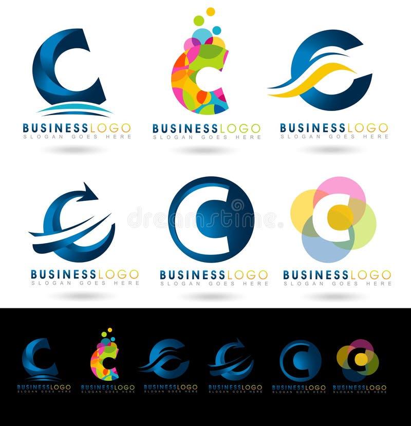 Bokstav C Logo Designs vektor illustrationer
