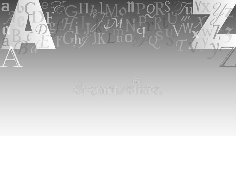 bokstav för bakgrundscollageeps royaltyfri illustrationer