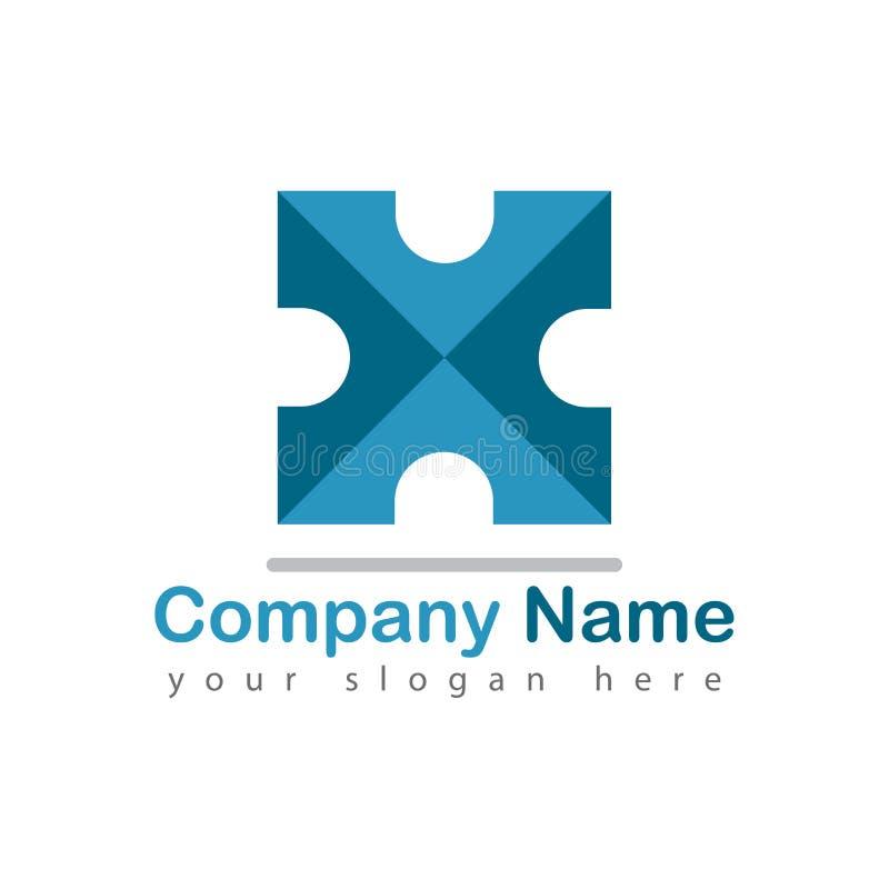 Bokstav för företagslogo x på vit stock illustrationer