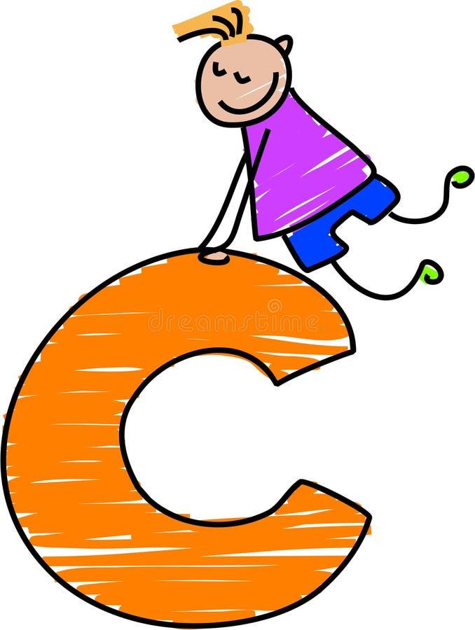 bokstav för pojke c royaltyfri illustrationer