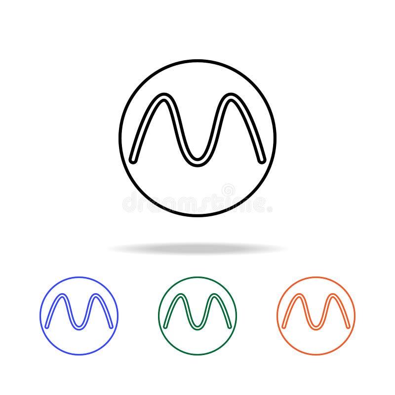 bokstav i en cirkelsymbol Beståndsdelar av den enkla rengöringsduksymbolen i mång- färg Högvärdig kvalitets- symbol för grafisk d vektor illustrationer
