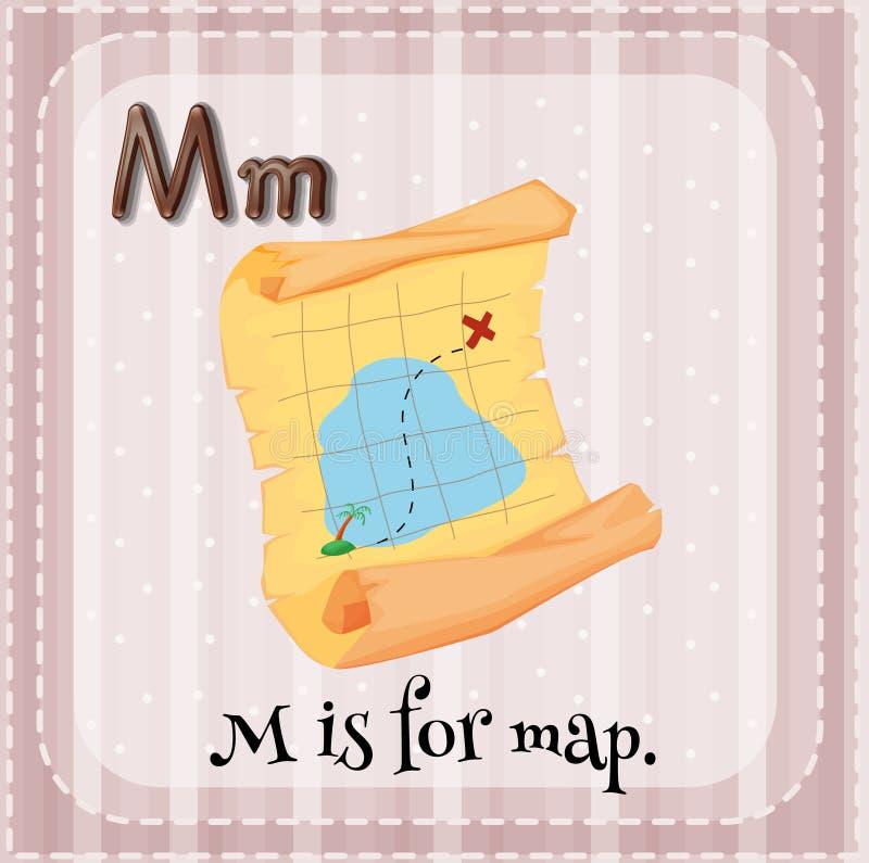 bokstav M royaltyfri illustrationer