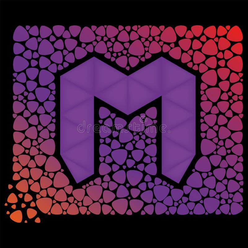 bokstav M vektor illustrationer