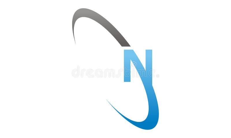 Bokstav N Logo Design Template Vector vektor illustrationer