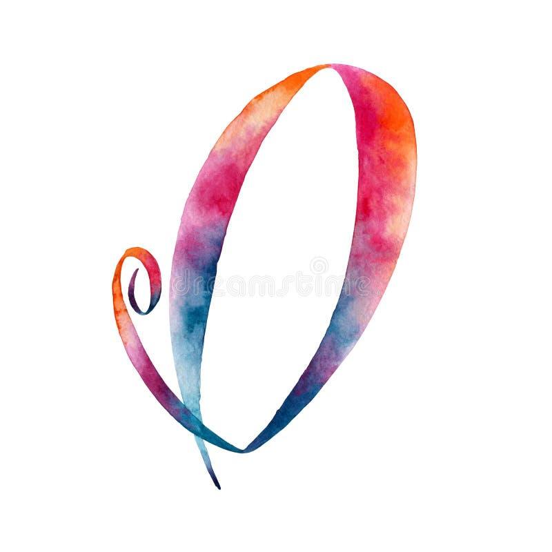 bokstav o grupper som tecknar spolning för vattenfärg för blomningflodtrees abstrakt fläckar för objektbana för bakgrund clipping vektor illustrationer