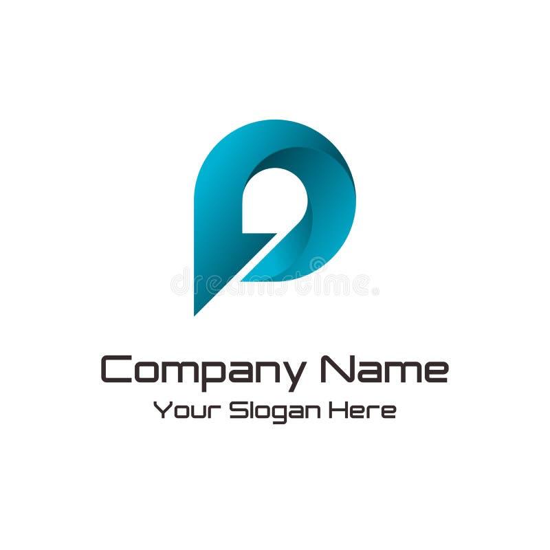 Bokstav P Logo Design Template vektor illustrationer