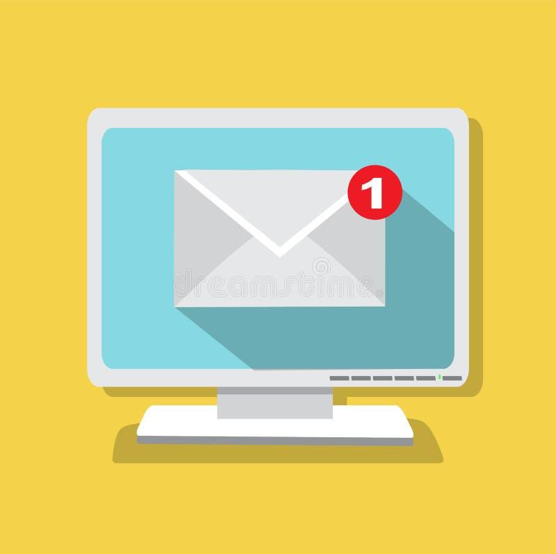 Bokstaven förvärvade emailen vektor illustrationer