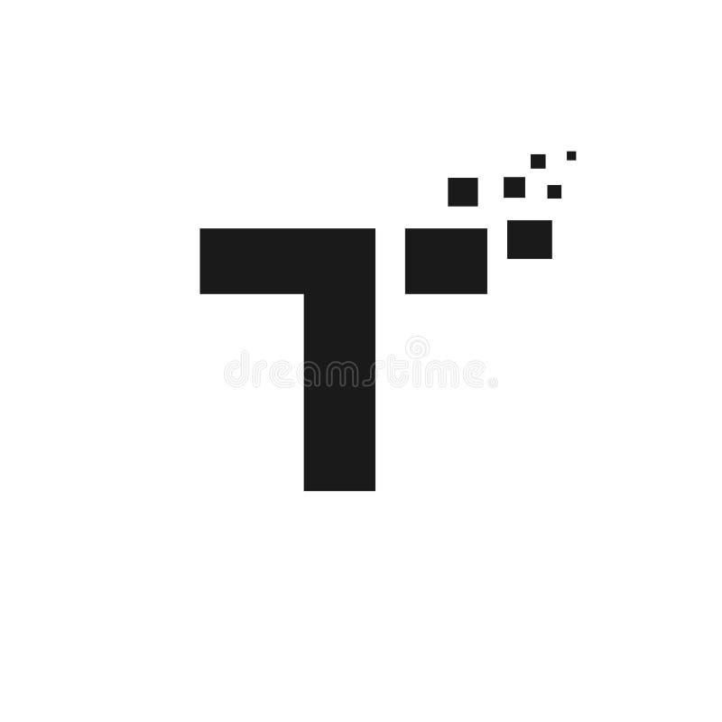 Bokstaven T-logotyp, teknik och digital stock illustrationer