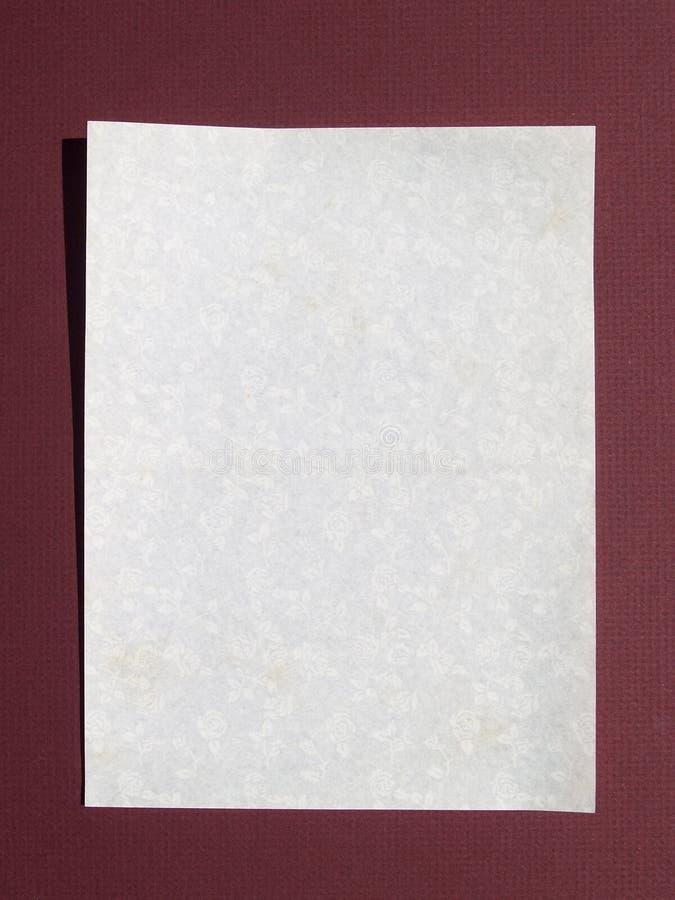 bokstavsförälskelsepapper royaltyfri foto