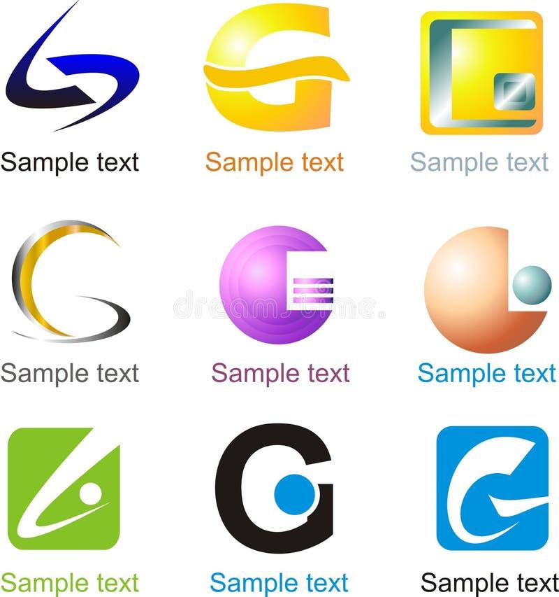 BokstavsG-logo royaltyfri illustrationer