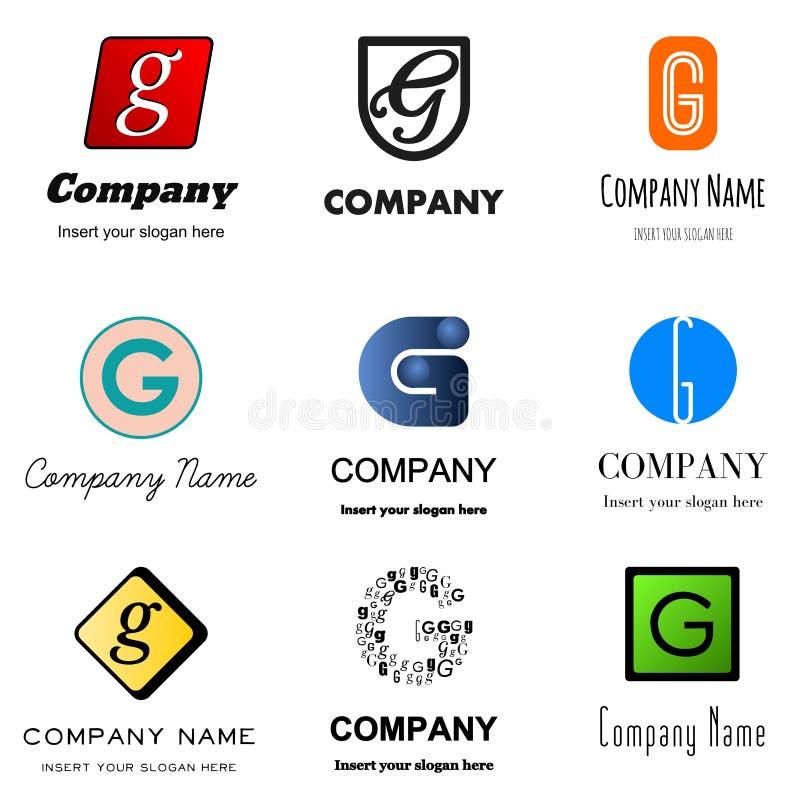 BokstavsG-logo vektor illustrationer