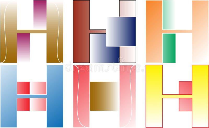 BokstavsH-logo vektor illustrationer