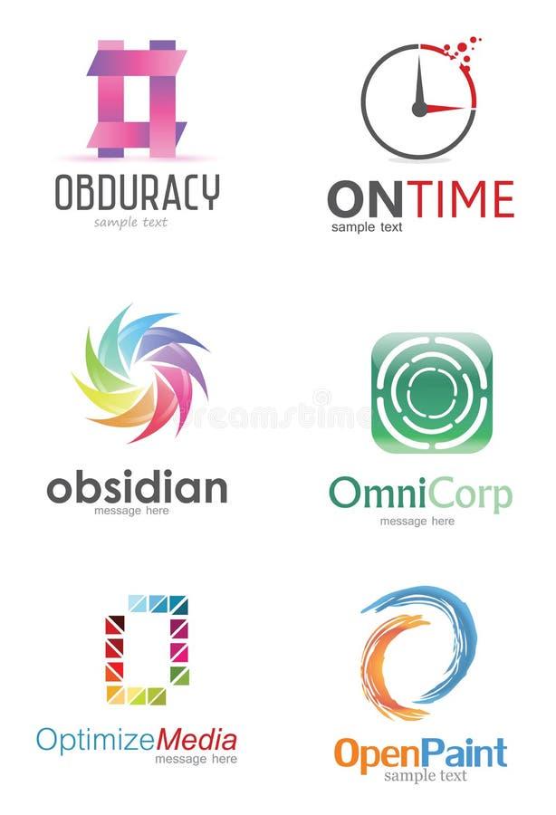 Bokstavsnolla-logo stock illustrationer