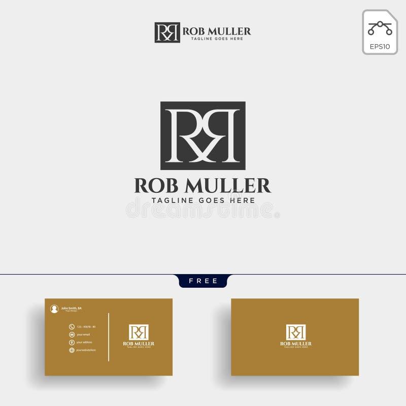 bokstavsRM, R, för logomall för M guld- idérik illustration för vektor royaltyfri illustrationer