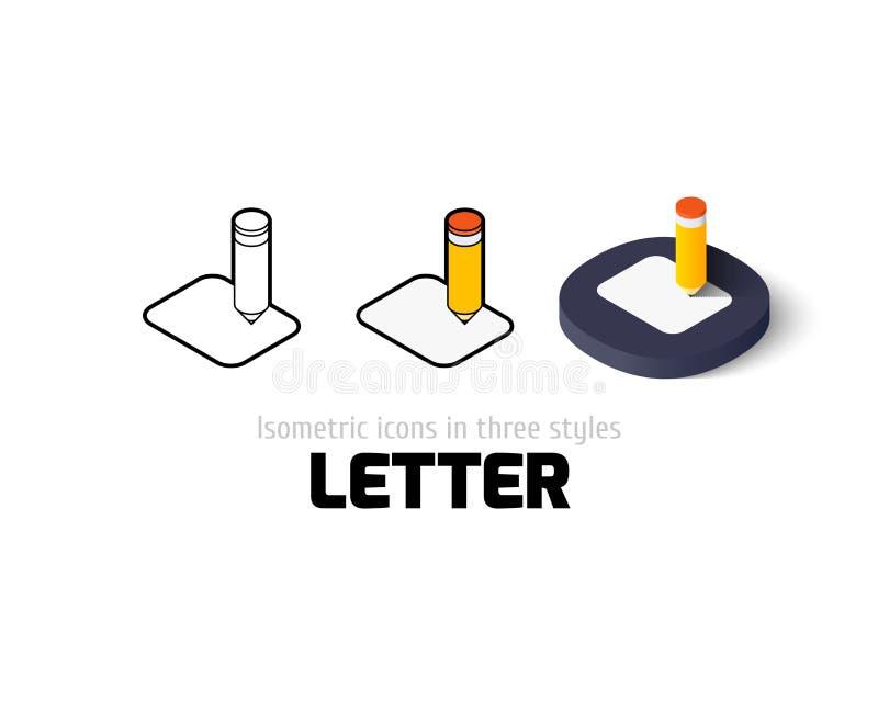 Bokstavssymbol i olik stil vektor illustrationer