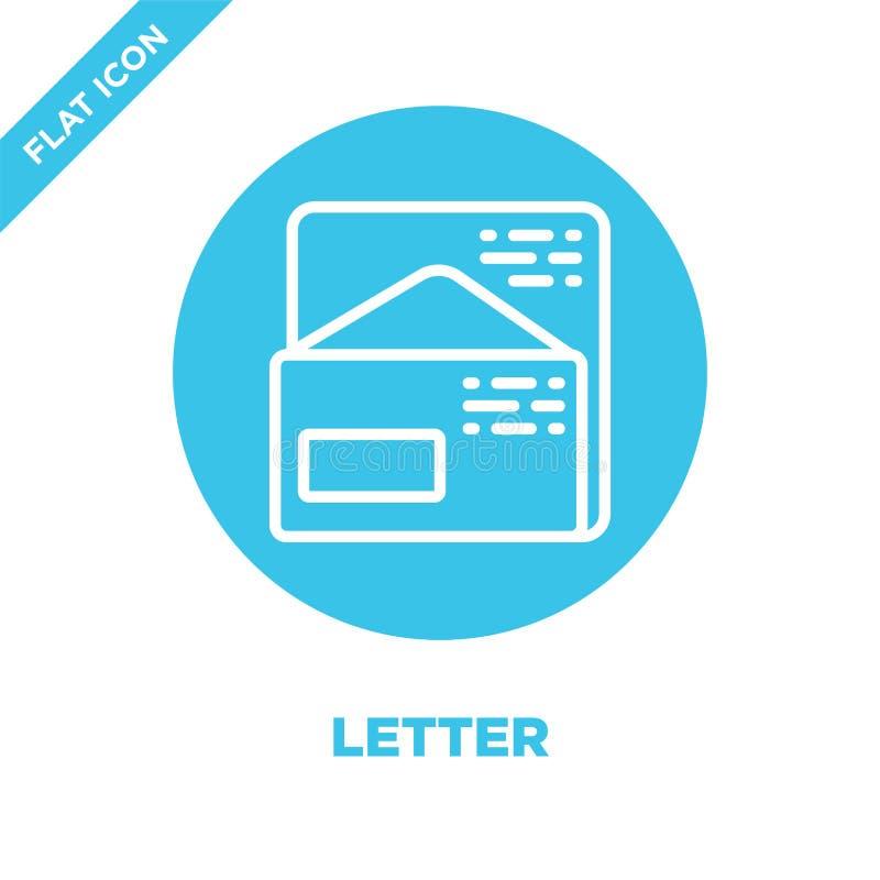 bokstavssymbolsvektor från brevpappersamling Tunn linje illustration för vektor för bokstavsöversiktssymbol Linjärt symbol för br vektor illustrationer