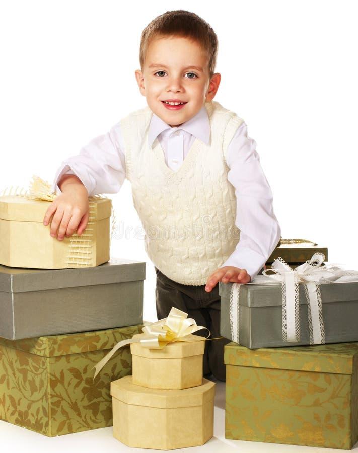 boksuje chłopiec prezent dużo obrazy royalty free