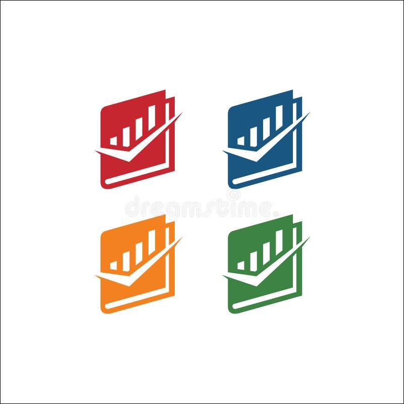 Boksymbolsvektor, isolerad pictogram Boklogo och fästing stock illustrationer