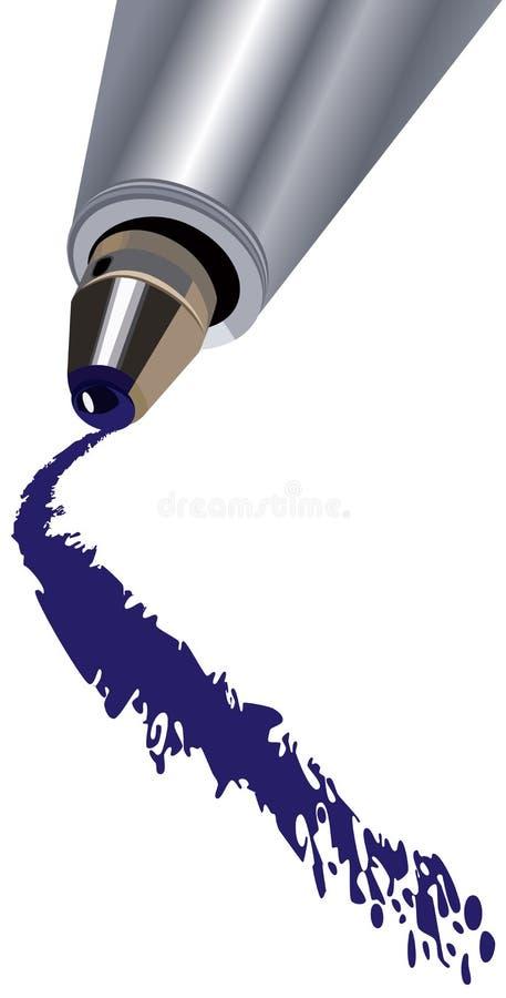 Download Bolígrafo ilustración del vector. Ilustración de brillo - 7150218