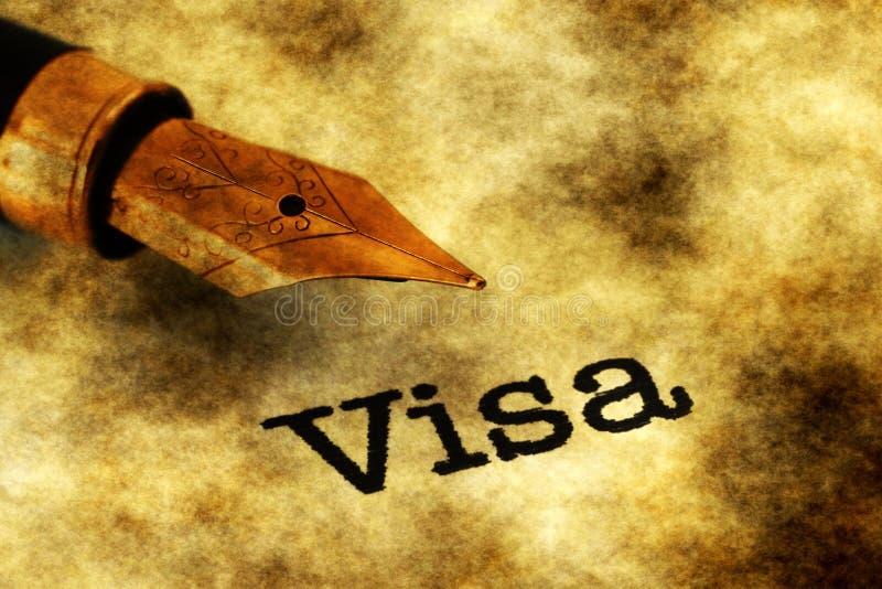Bolígrafo de texto y fuente de visa fotografía de archivo libre de regalías