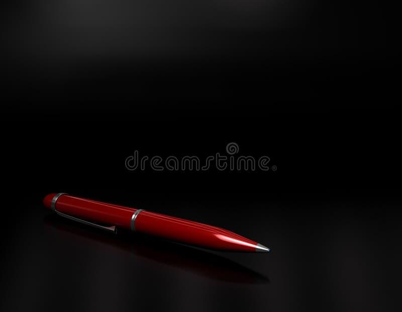 Bolígrafo rojo ilustración del vector