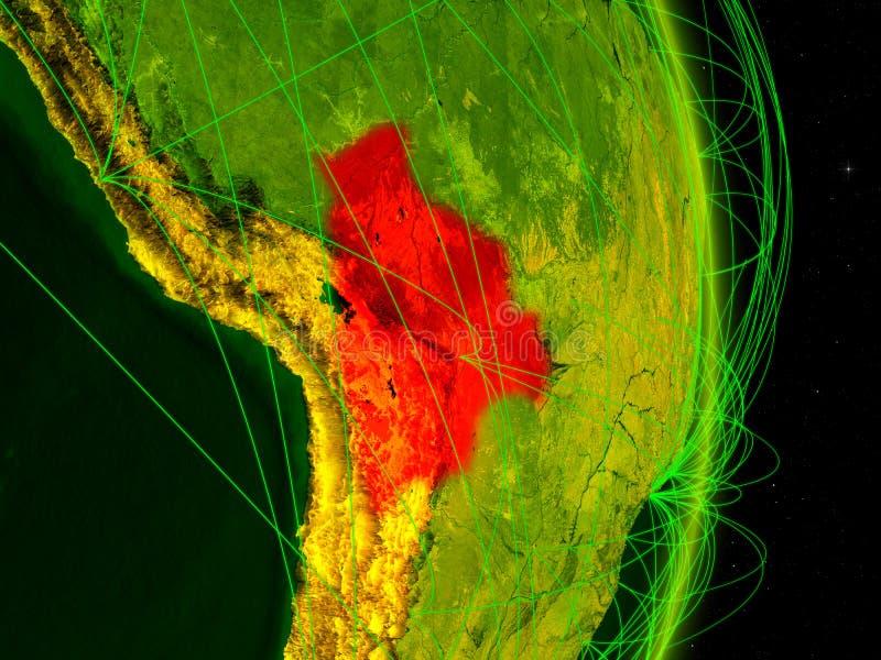 Bolívia na terra digital ilustração royalty free