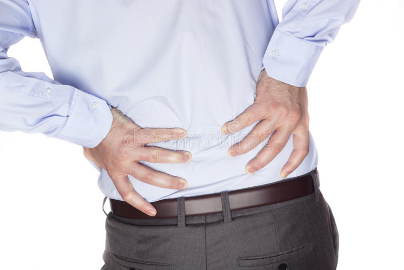 bolącego plecy łóżka bolący target759_0_ wizerunku uraz target762_0_ męskiego mężczyzna mięśnia szyi bólu stronniczo surowego ram obrazy royalty free