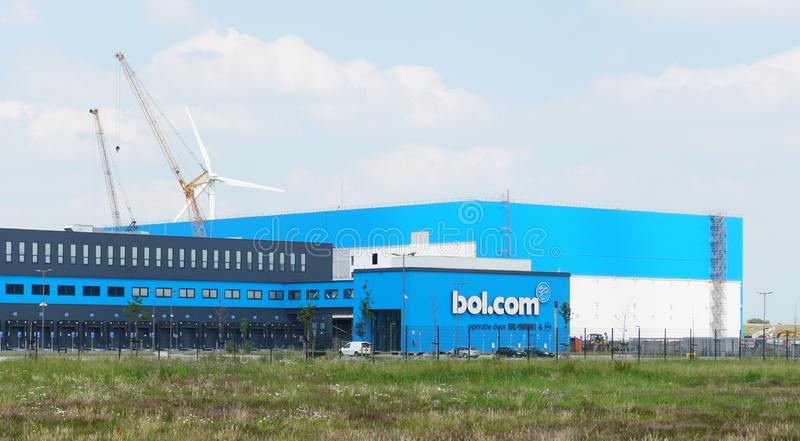 Bol.com distribution center in Waalwijk. Waalwijk, the Netherlands. June 2019. Distribution center for Bol.com in Waalwijk, a leading internet shop in the royalty free stock images