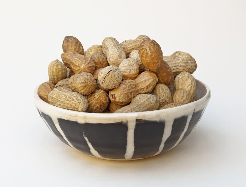 Bol d'arachides potelées photographie stock libre de droits