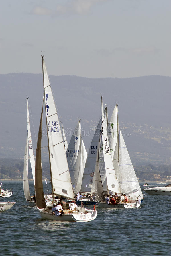 Bol D'Or race on Lake Geneva. stock photos
