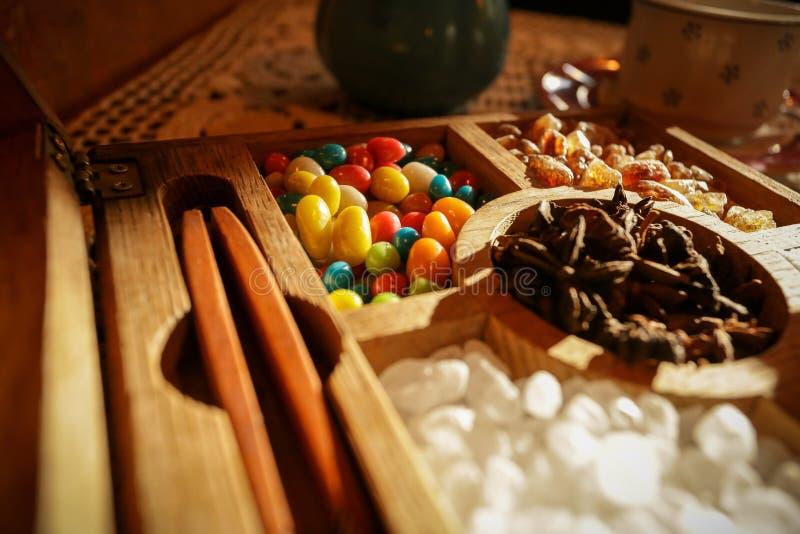 bol de azúcar con caramelos foto de archivo libre de regalías