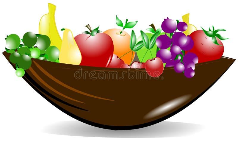 Bol de fruit illustration libre de droits